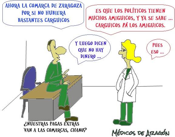 """""""CARGUICOS 'PÁ' LOS AMIGUICOS"""" (ARAGÓN, LA TIERRA CON MÁS CARGOS POLÍTICOS POR HABITANTE. Y VIENEN MÁS ...)"""
