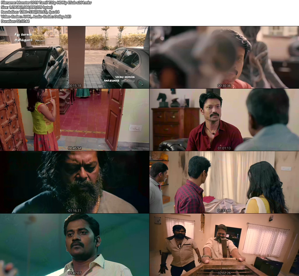 Monster 2019 Tamil 720p HDRip ESub x264 | 480p 300MB | 100MB HEVC Screenshot