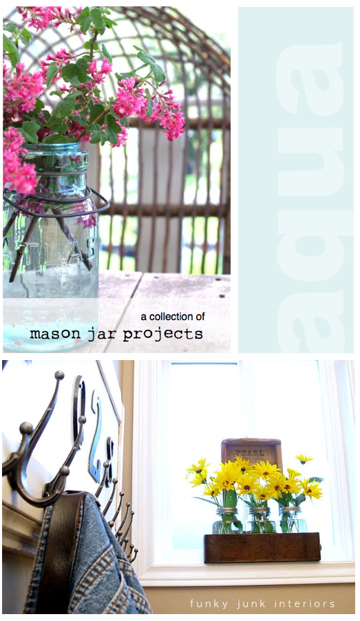 A collection of Funky Junk's own quirky mason jar projects