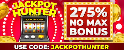 275% no max cashout Jackpot slots bonus | RTG casinos