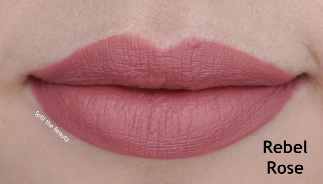 7 - wet n wild liquid catsuit matte lipstick review swatches look pink really hard 923b lips