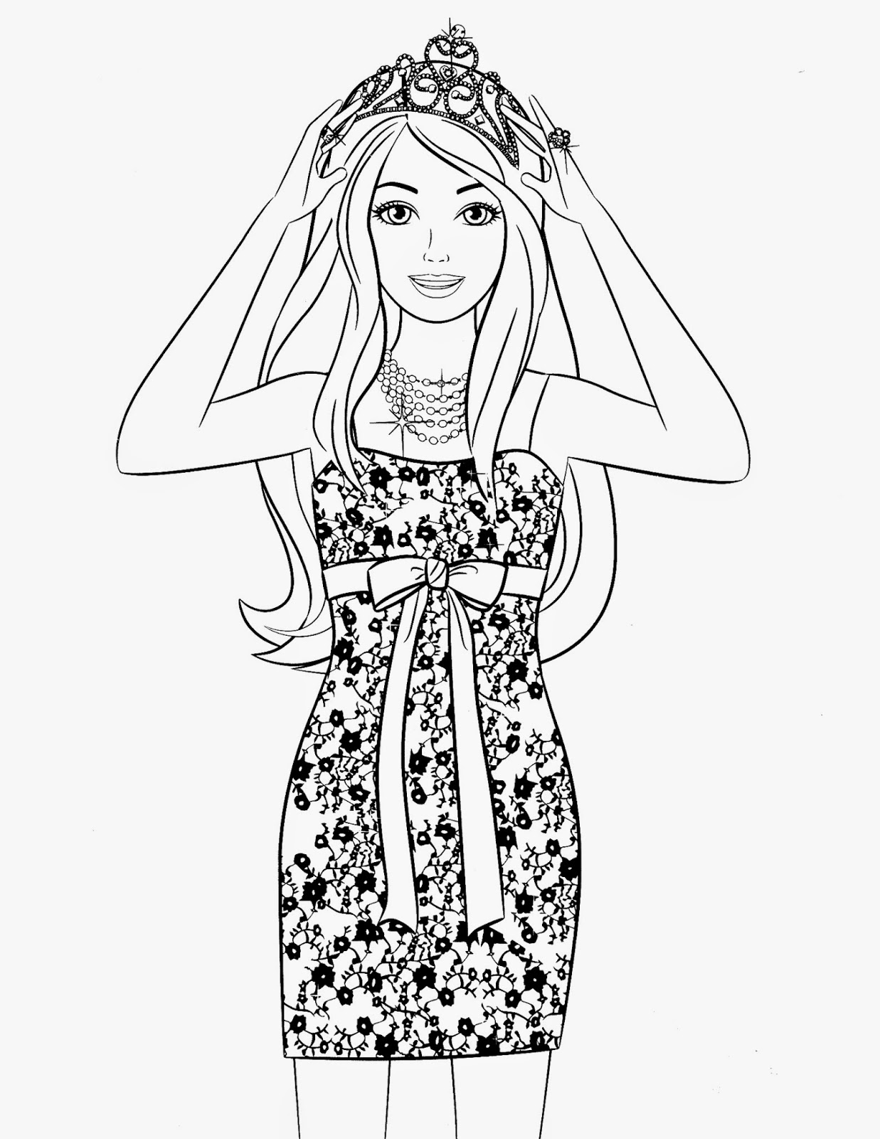 Coloring Pages Barbie Free Printable Coloring Pages