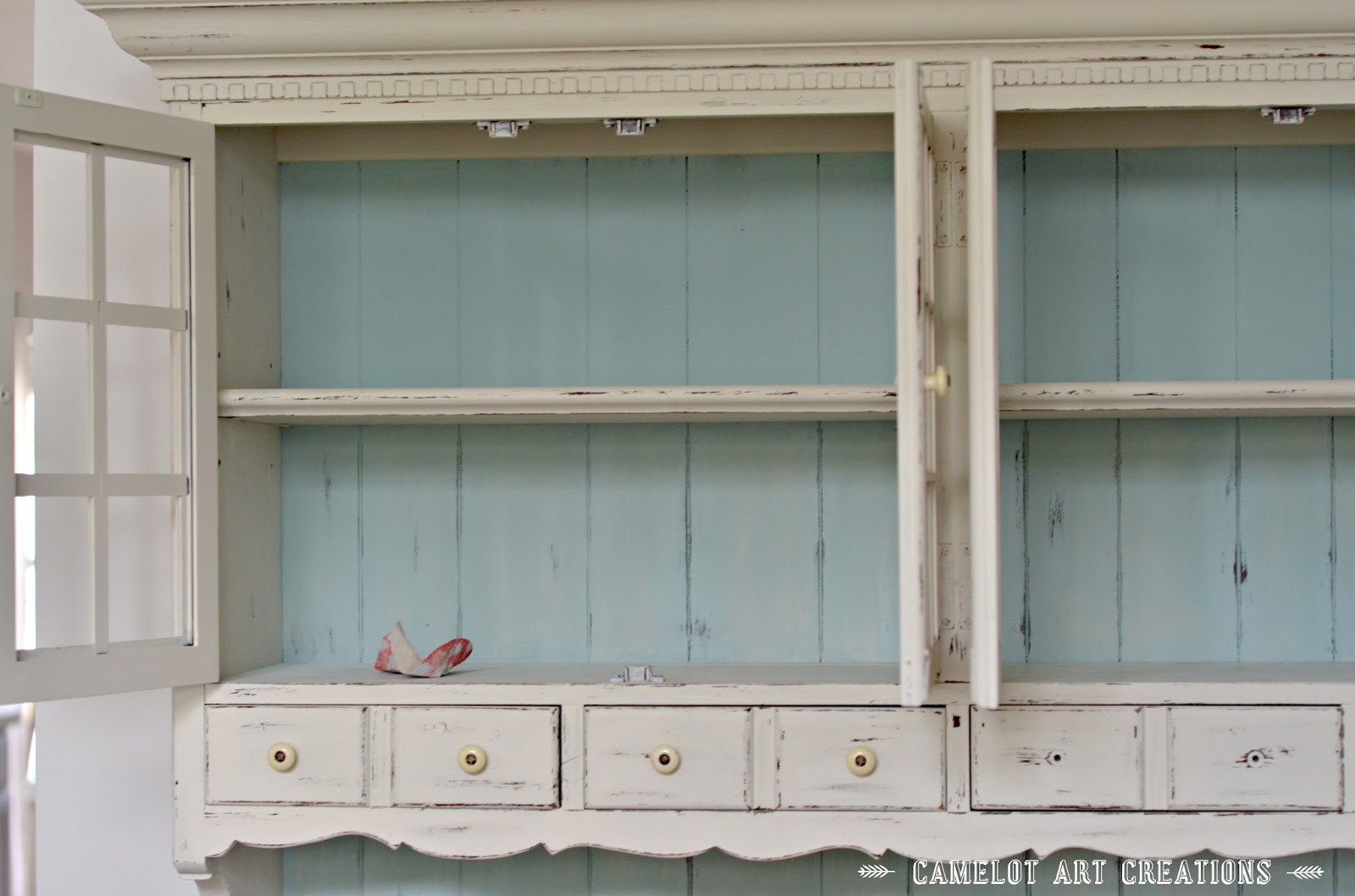 Camelot Art Creations: China Cabinet Makeover