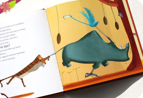Mamie Poule raconte titre 19 - Le rhinocéros qui louchait féroce