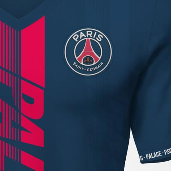 new styles 4d955 81870 Palace x PSG Concept Jersey by Kifth - Footy Headlines