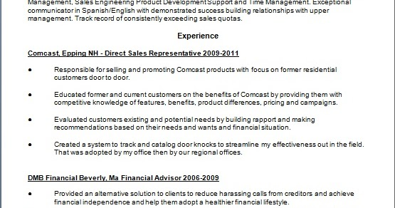 direct sales representative resume format in word free download