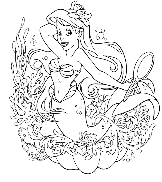 Disney Little Mermaid Coloring Page Best Gift Ideas Blog