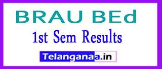 BRAU BEd 1st Sem Results 2017
