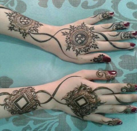 cute simple henna designs