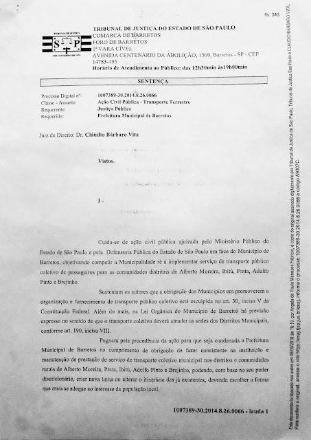 1007389-30.2014.8.26.0066 - Lauda 1 - Sentença Transportes Terrestres Zona Rural Barretos - Pag. 348