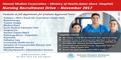 Nursing Recruitment - Hamad Medical Corporation – Ministry of Health,Qatar (Govt. Hospital)