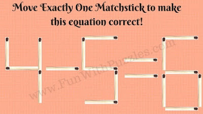 Maths Brain Teasers in Picture with matchsticks