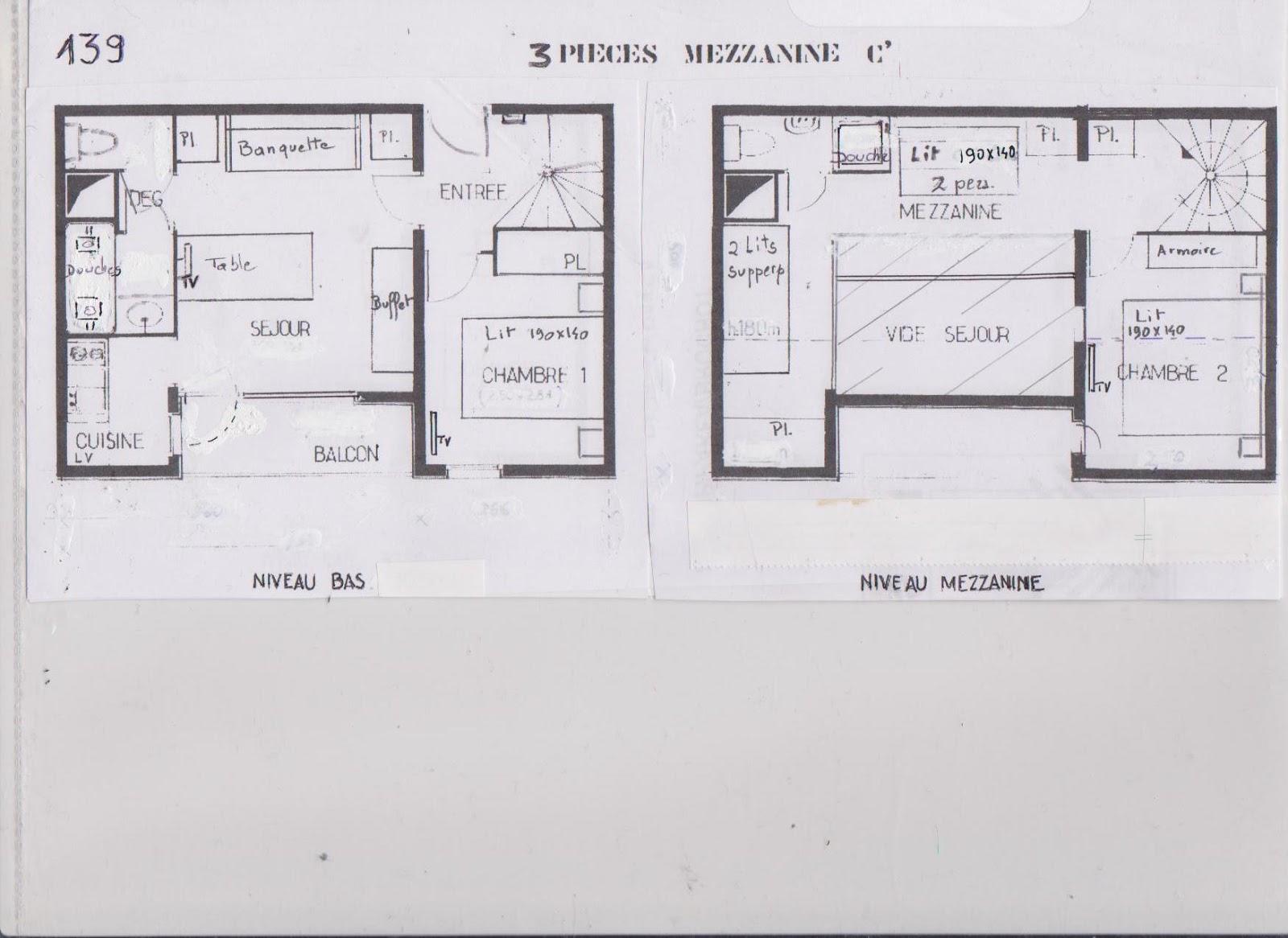 location les menuires appartement duplex 8 couchages. Black Bedroom Furniture Sets. Home Design Ideas