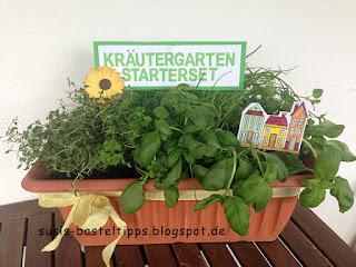 Geschenkidee zum Einzug: Kräutergarten mit Stampin' Up! Pflanzensteckern und Stanze Gänseblümchen von unabhängiger Stampin' Up! Demonstratorin in Coburg