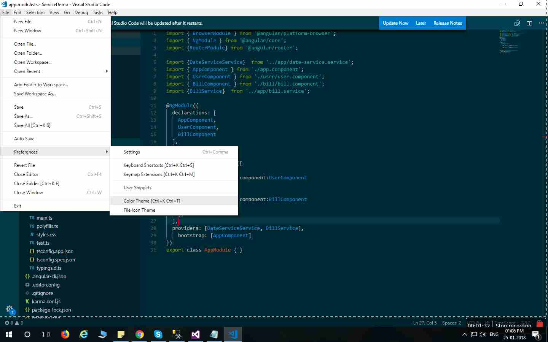 How To Change Theme in Visual Studio Code? - Angular