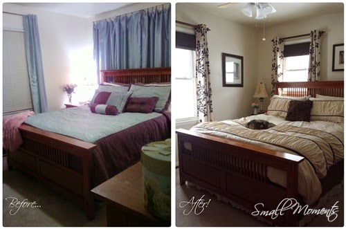 Before and After The Bedroom is done!