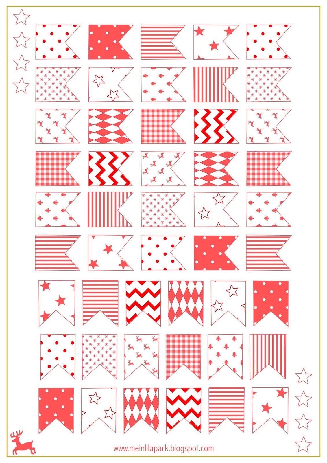 Free Printable Christmas Flags