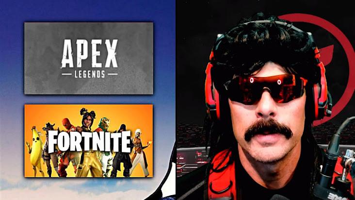 [Fortnite] Dr Disrespect giải thích lý do vì sao Fortnite có được nhiều thành công hơn Apex Legends.