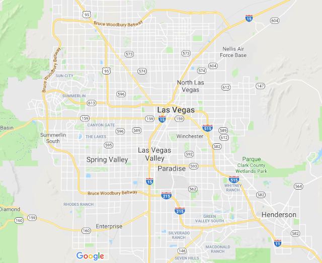 Região fora da Las Vegas Strip para ficar em Las Vegas