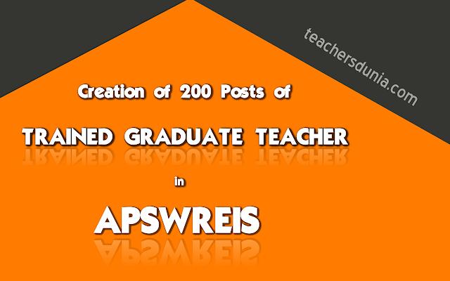 APSWREIS-Creation-of-200-posts-of-Trained-Graduate-Teacher