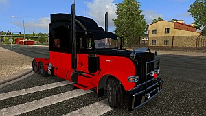 Black and Red skin for Peterbilt 389