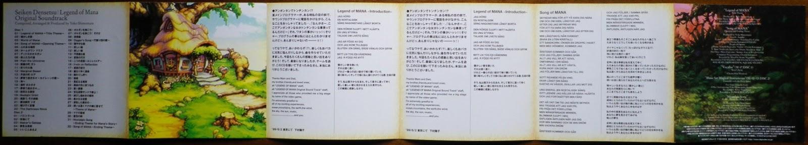 Legend of Mana OST - Desplegable lado 2
