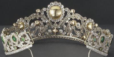 Duchess of Angouleme Emerald Tiara France Bapst