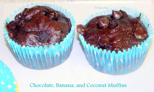 Chocolate, Banana and Coconut Muffins --- Donna Hay