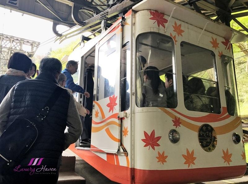 yoshino ropeway senbon guchi station cable car