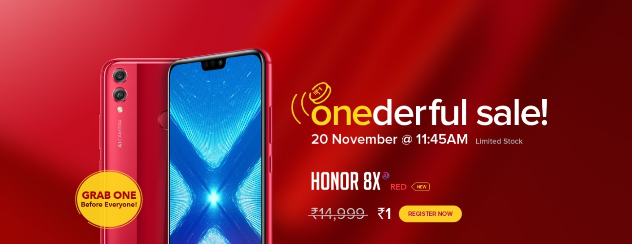 Rs 1 Sale is back | Buy HONOR 8X @Rs1 - TechNews com