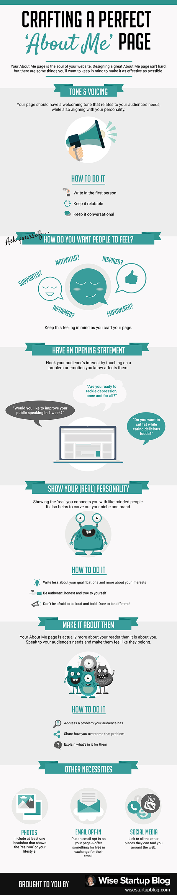 About Me Page: The Ultimate How to Guide [Infographic]
