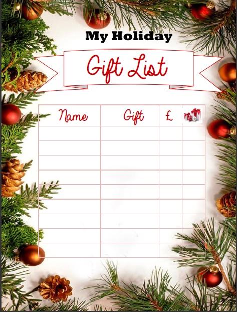 mini milburn happy planner christmas 2016 gift list insert free