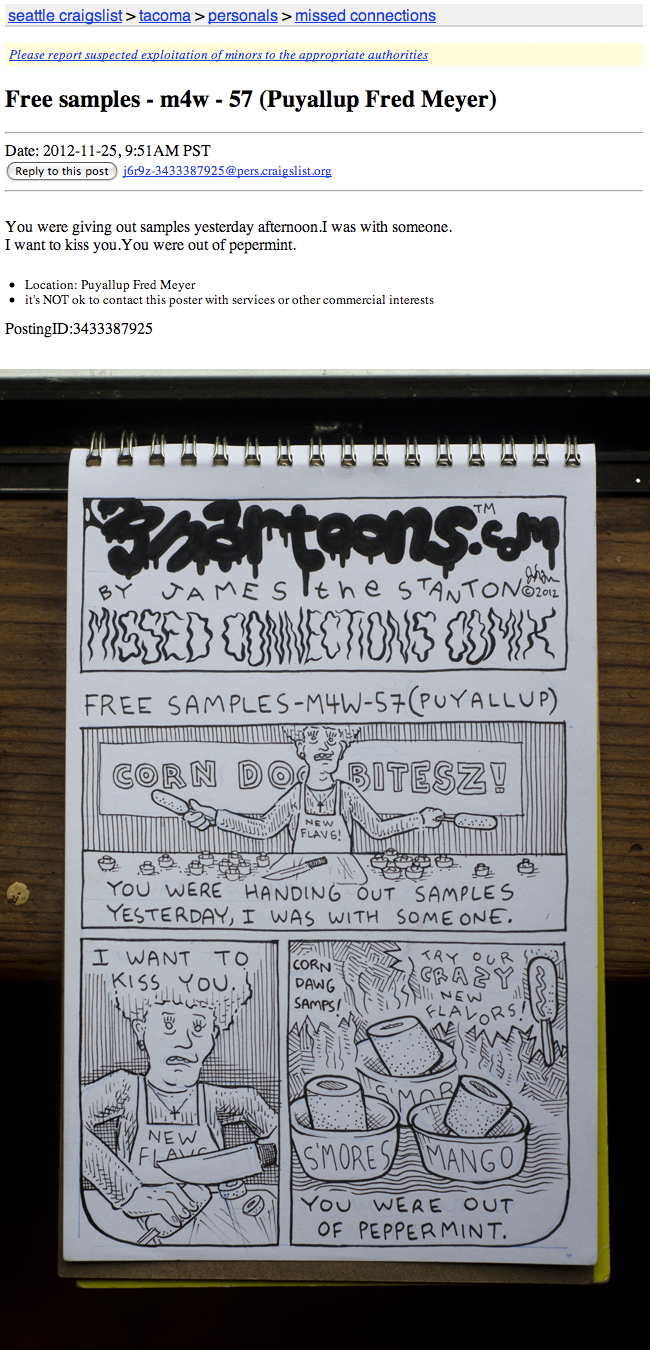 Gnartoons: Missed Connections Comix: Free Samples!