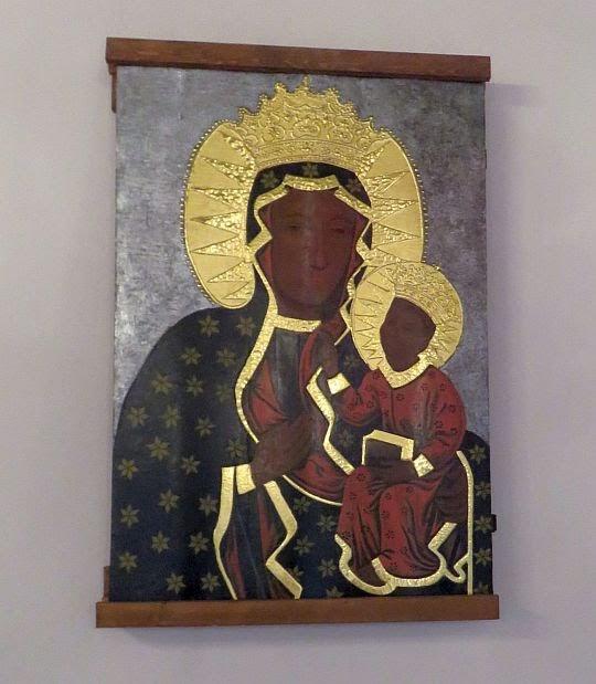 Kopia obrazu Matki Bożej Częstochowskiej z 1 połowy XVIII wieku.