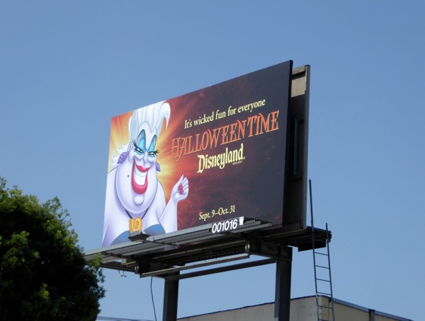 Disneyland Halloween Time Ursula billboard