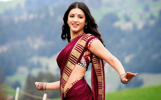 shruti hassan saree photos