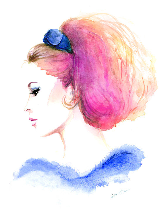 04-Brigitte-Bardot-Soo-Kim-Celebrity-Watercolor-Portraits-www-designstack-co
