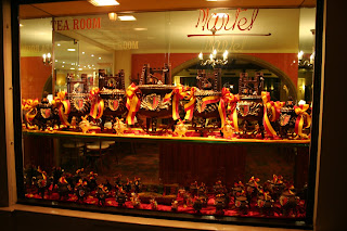 A shop in Geneva selling chocolate marmites - cauldrons - at the time of the festival of L'Escalade