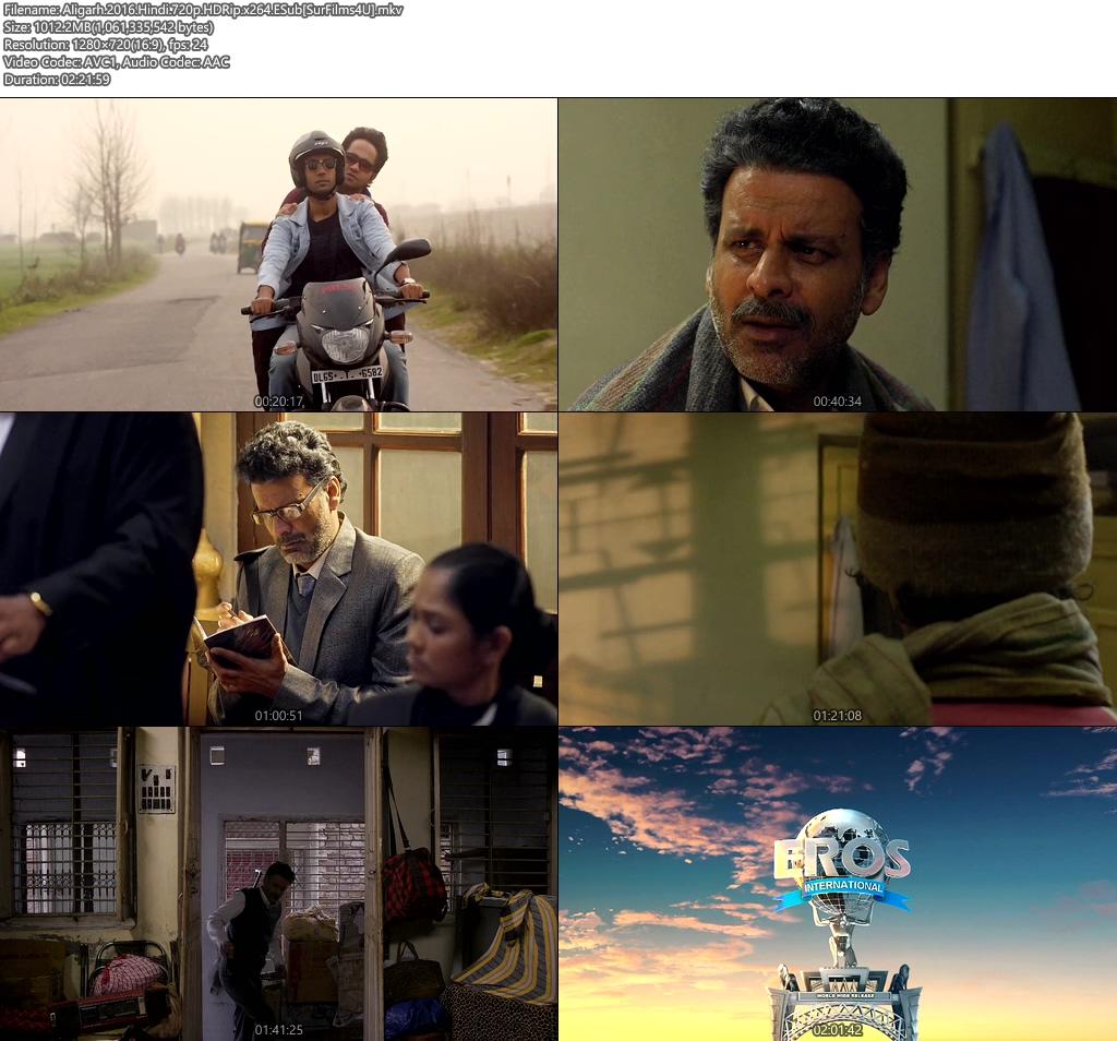 Aligarh 2016 Hindi 720p ESub HDRip x264 | 400MB 480p | 200MB HEVC Screenshot