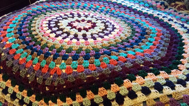 Crochet Adventures Crochet Pattern Granny Style Circle Afghan