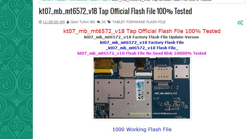 🔥 kt07-mb-mt6572-v18 firmware ~ FIRMWARE1