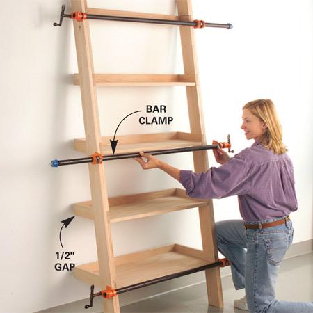 Leaning tower of shelves plans, easy garden bench