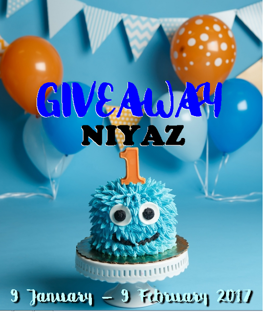 GIVEAWAY NIYAZ 1ST YEAR BIRTHDAY