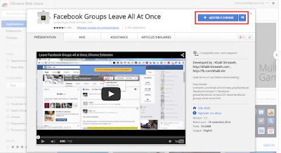 خروج من جميع المجموعات على الفيس بوك بنقرة  واحدة