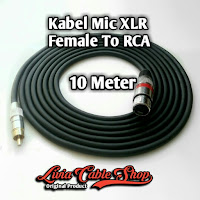 Kabel Mic XLR  10 Meter RCA to Female