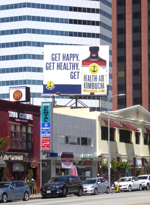 Health-Ade Kombucha billboard