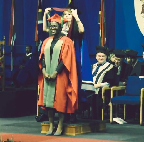 Photos: Under-30 Nigerian lady bags a Ph.D in Nuclear Physics