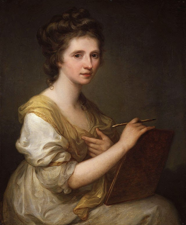 A Self Portrait by Angelica Kauffman, 1770-1775