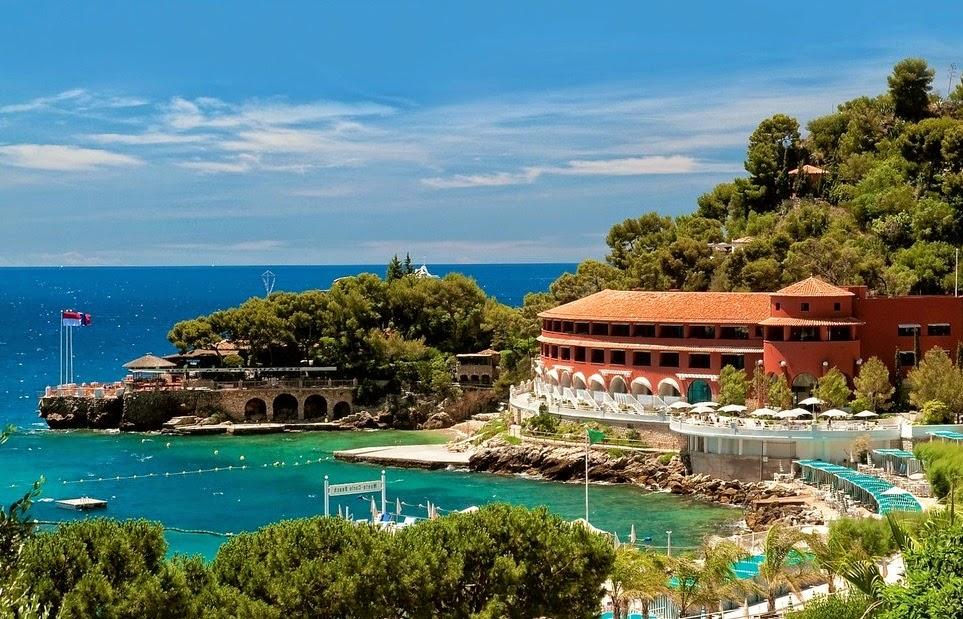 The Hôtel de Paris Monte-Carlo is a hotel located in Monaco, It was opened in as part of the development of Monaco by the Société des Bains de Mer (SBM) under .