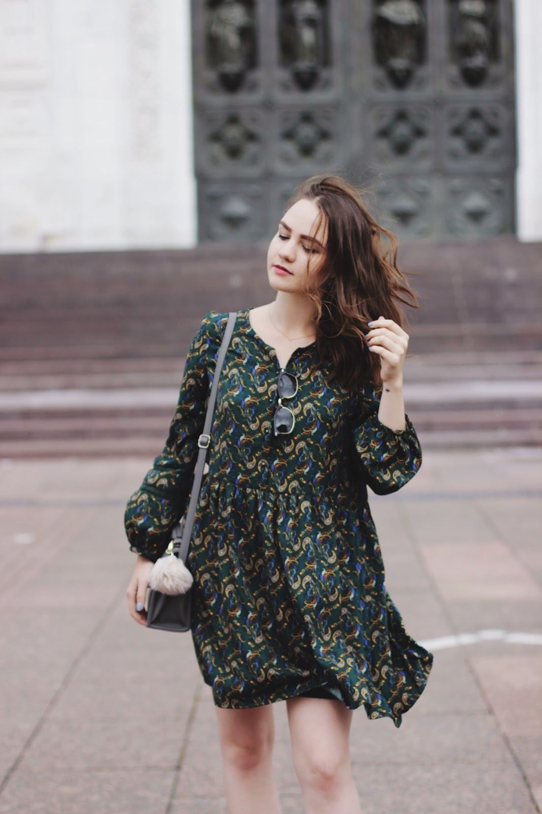 Zara Printed Dress | Fashion Blogger